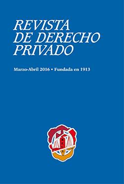 Cubierta 2-2016 de Revista de Derecho Privado de Editorial Reus